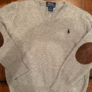 Boys gray v neck sweater hardly worn